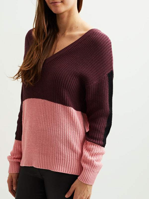 VILA V-Neck Knitted Pullover