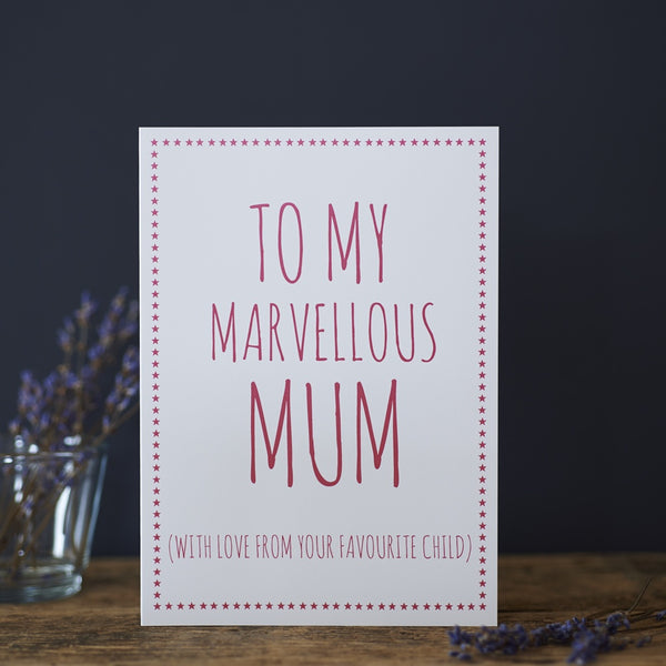 Marvellous Mum Card by Sweet William