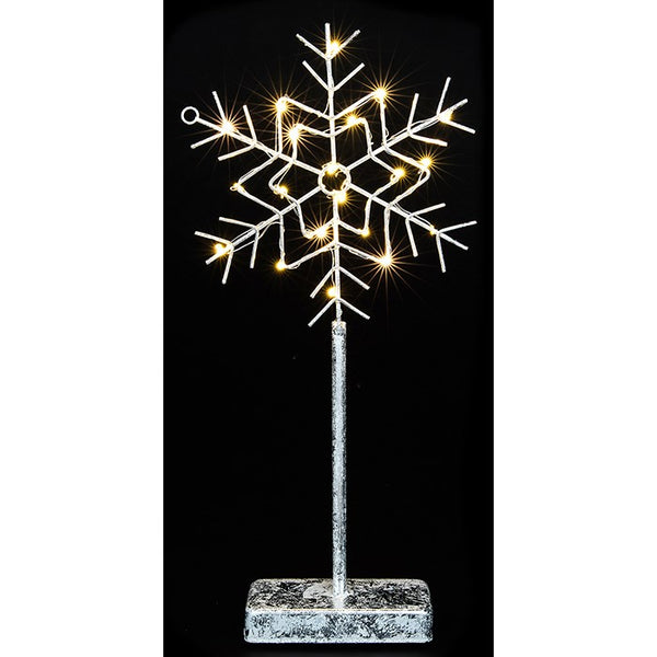 Festive Sparkle LED Wire Snowflake