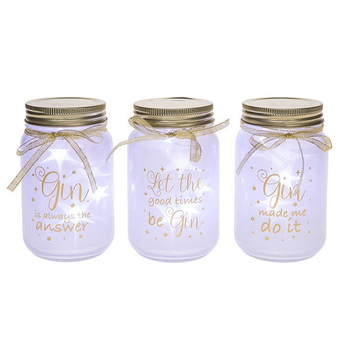 Firefly LED Gin Glass Jars