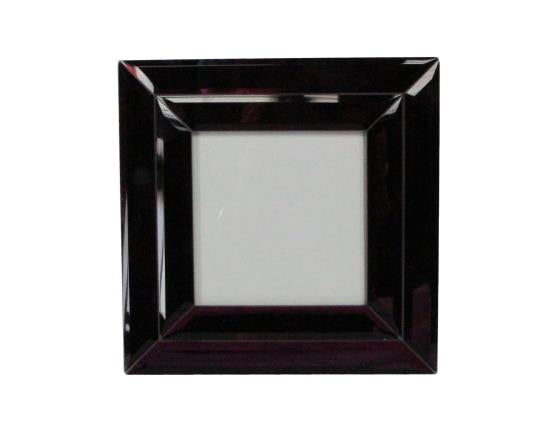 Purple Mirror Square Picture Frame - 17.5x17.5x1.5cm