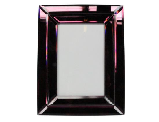 Purple Mirror Portrait Picture Frame - 17.5x22.5x1.5cm