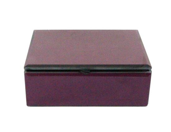 Purple Mirror Keepsake Box - 16x6x12cm
