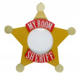 Sheriff Wooden Star `My Room` Picture Frame - NOW 50% OFF
