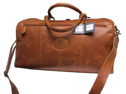 Rowallan Brown Leather Holdall / Overnight Bag
