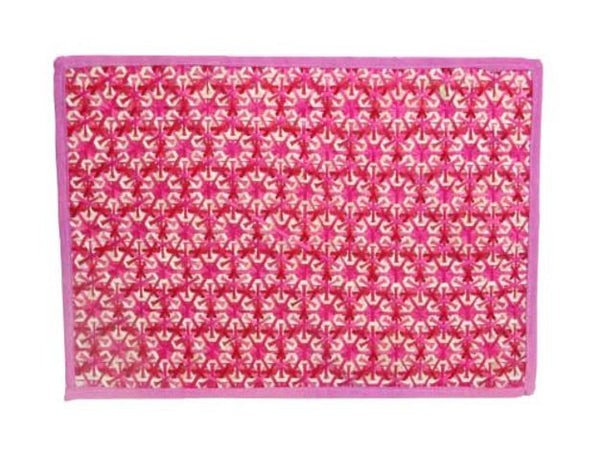 Pink Bamboo Woven Decorative Placemat