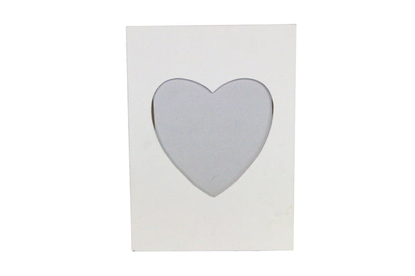 White Wood Large Heart Picture Frame 21x29x1cm