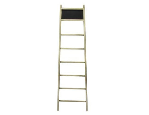 Natural Wood Decorative Chalkboard Lean To Ladder