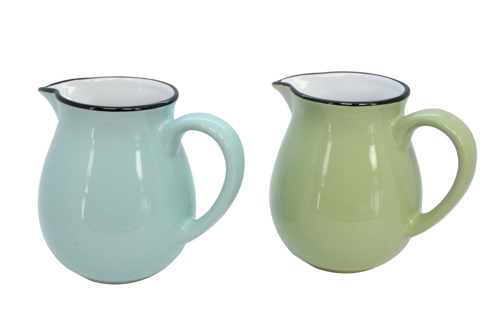Green and Blue Ceramic Medium Jug
