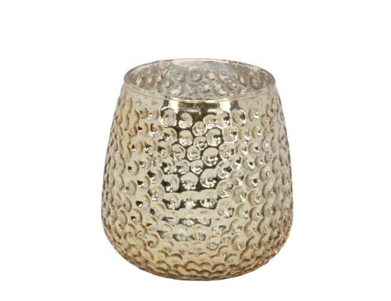 Gold Lustre Dimple Tealight Holder