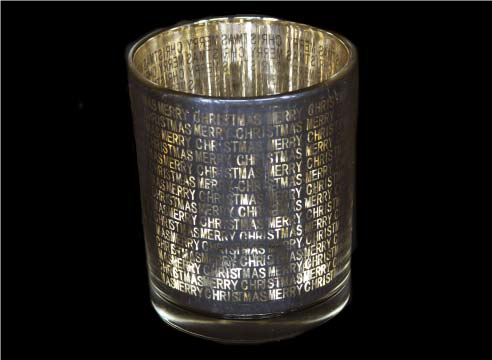 Silver/Gold Glass Sentiment Pot Nite Lite