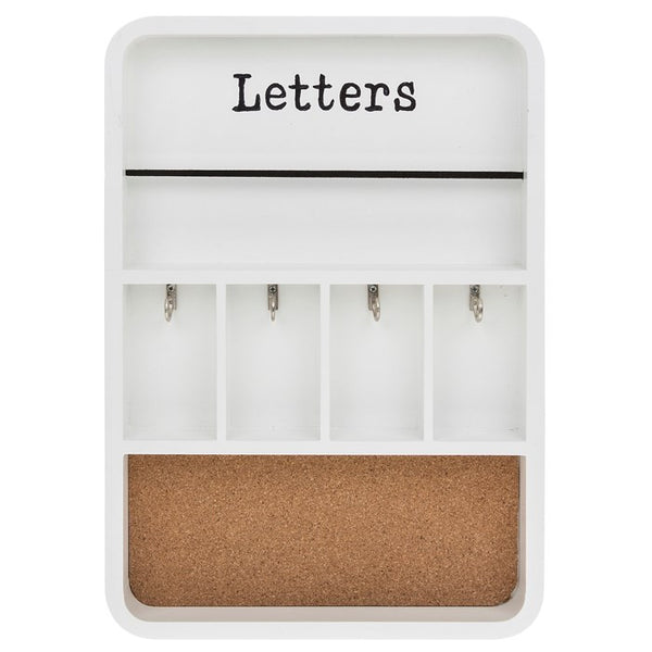 Wall Hanging Letter, Key and Memo Storage Caddy