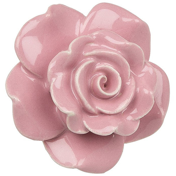Ceramic Rose Door Knob - Pink, Purple, Green and Blue