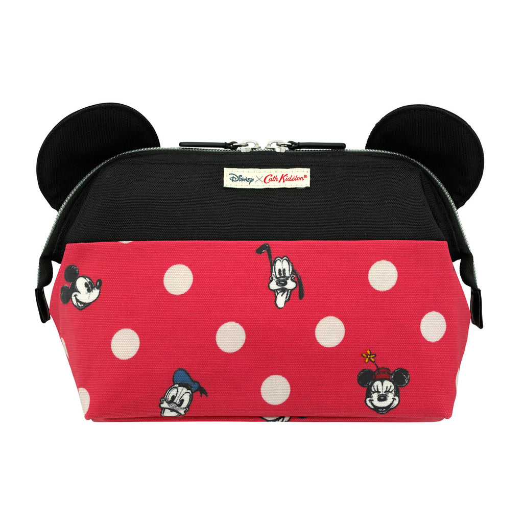 Cath Kidston Disney Mickey and Friends Button Spot Framed Washbag With Ears