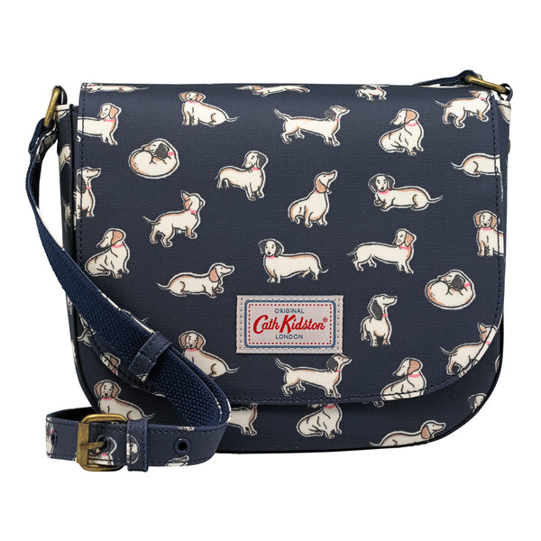 Cath Kidston Mini Mono Dogs Curved Saddle Bag