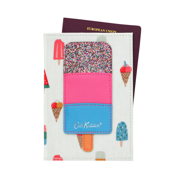 Cath Kidston Lollies Ice Cream Applique Passport Holder at Wysteria Lane