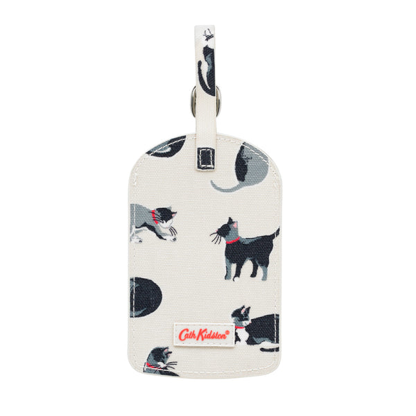 Cath Kidston Small Painted Cats Luggage Tag