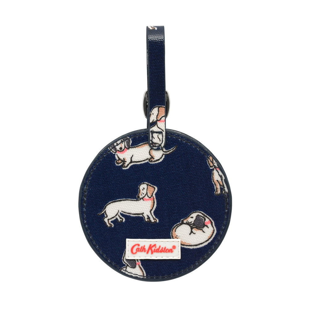 Cath Kidston Mini Mono Dogs Round Luggage Tag