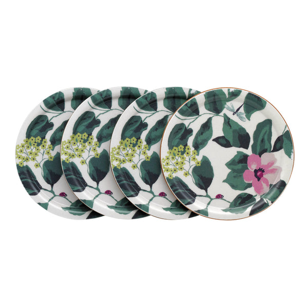 Cath Kidston Mornington Leaves Set of 4 Wooden Coasters