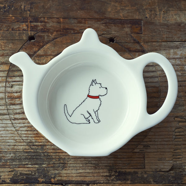 Westie Teabag Dish by Sweet William