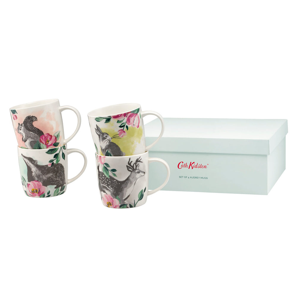 Cath Kidston Badger & Friends Set Of 4 Audrey Mugs | Wysteria Lane