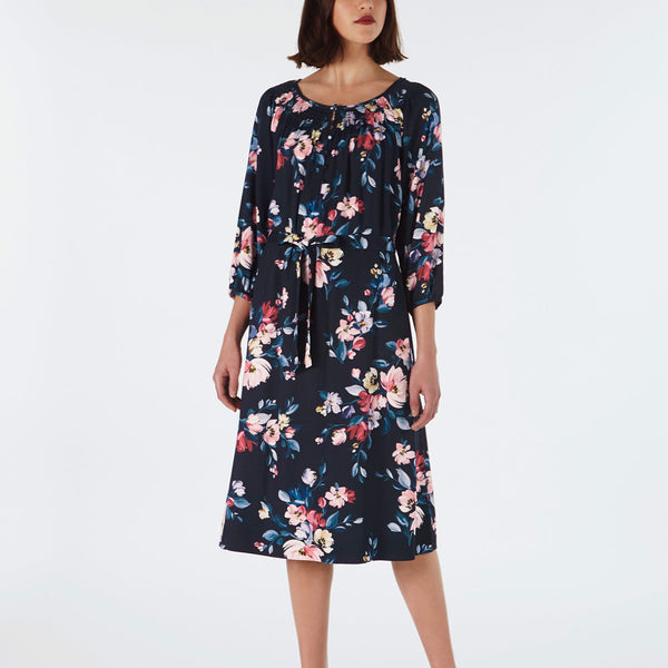 Cath Kidston Paintbox Flowers Dress With Shredded Neckline | Wysteria Lane