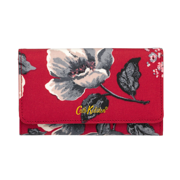 Cath Kidston Wild Poppies Medium Foldover Wallet