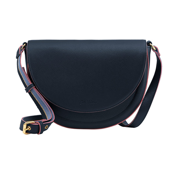 Cath Kidston Stratton Saddle Bag - Midnight Blue