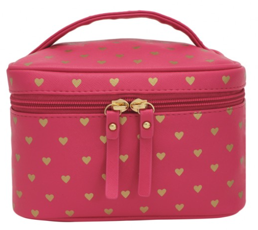 Bisous Gold Hearts Vanity Cases