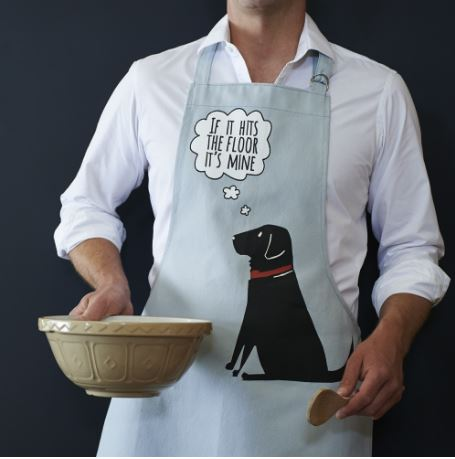 Black Labrador Apron by Sweet William