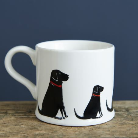Black Labrador Mug by Sweet William