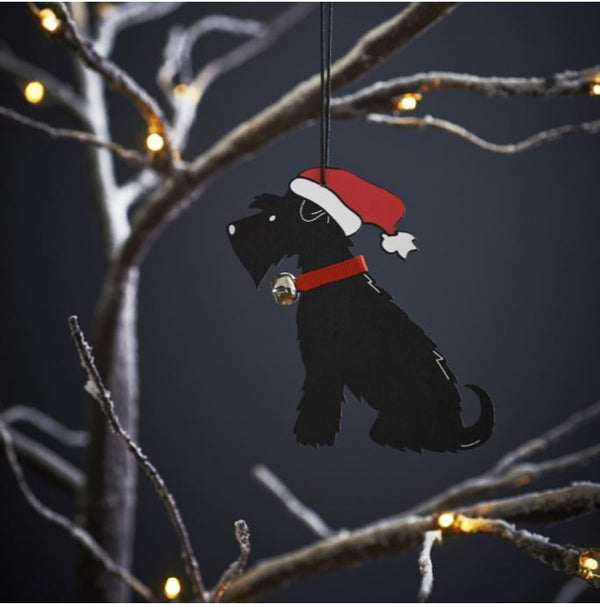 Black Schnauzer Dog Christmas Tree Decoration by Sweet William