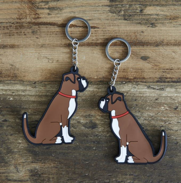 Boxer Dog Keyring by Sweet William