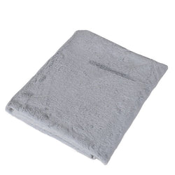 Soft Grey Fur Throw