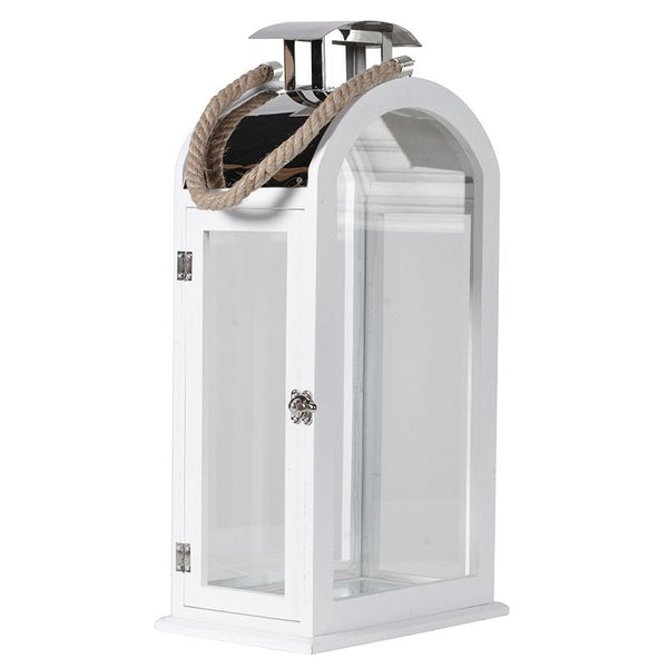 Large White Frame Lantern