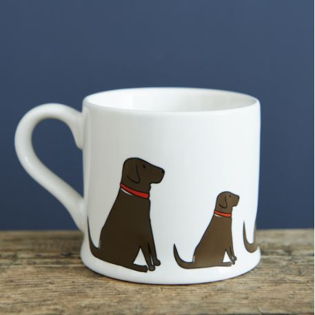 Chocolate Labrador Mug by Sweet William