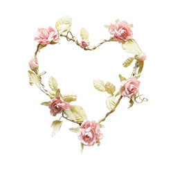 Heart Shaped Rose Wreath Light Pink