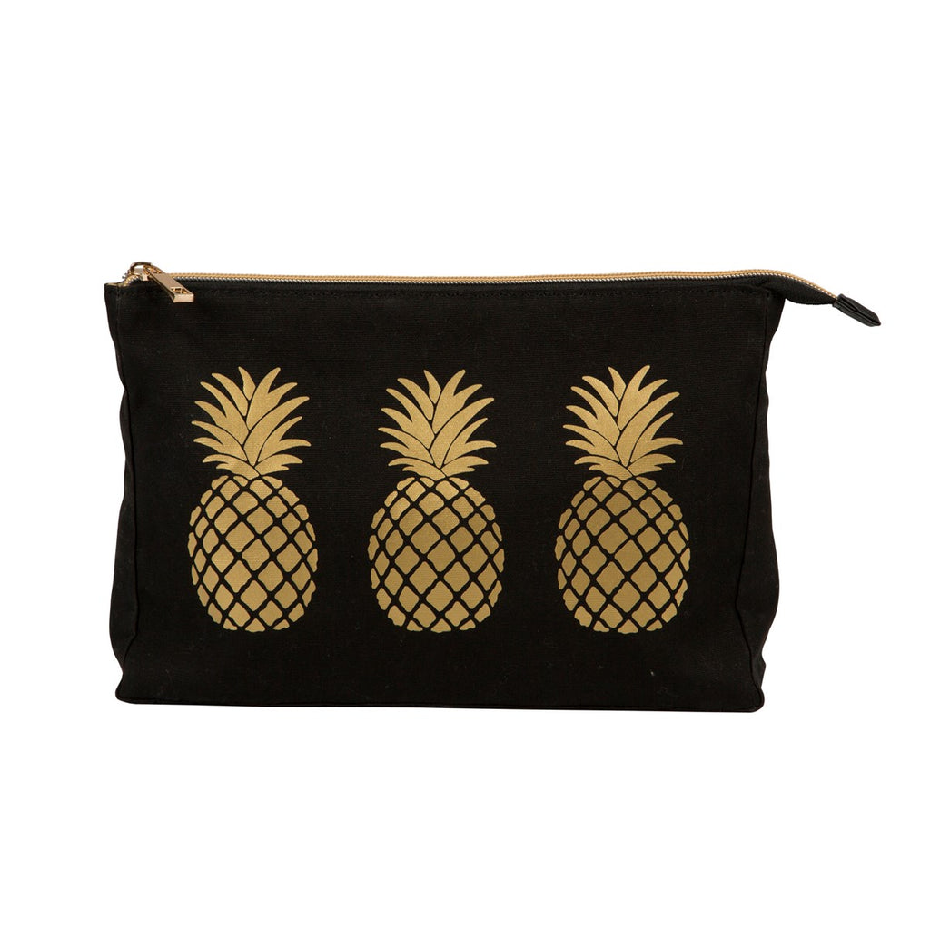 Gold Pineapple Wash Bag