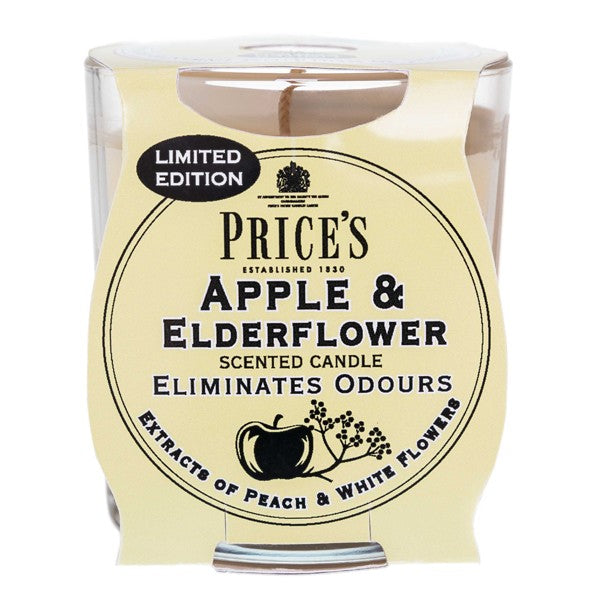 Prices Apple and Elderflower Odour Eliminating Candle