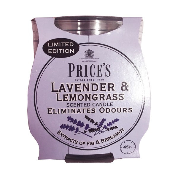 Prices Lavender & Lemongrass Odour Eliminating Candle