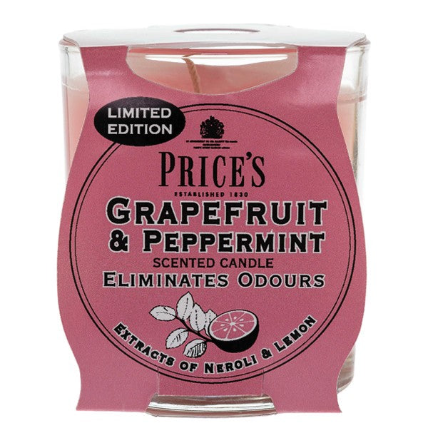 Prices Grapefruit and Peppermint Odour Eliminating Candle