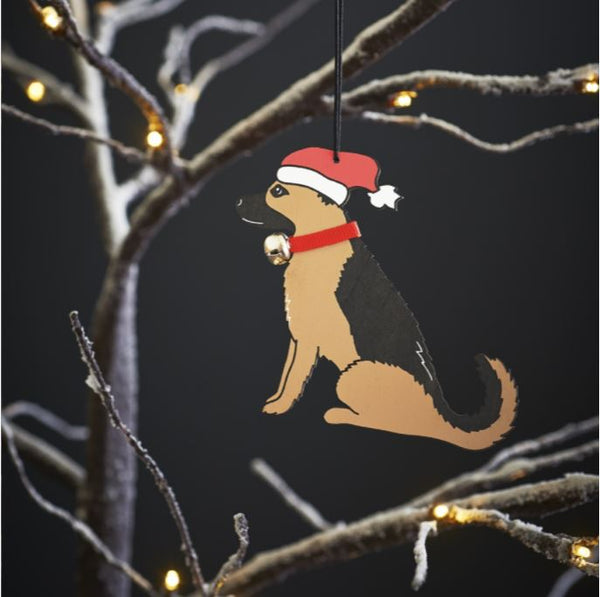German Shepherd Dog Christmas Tree Decoration by Sweet William