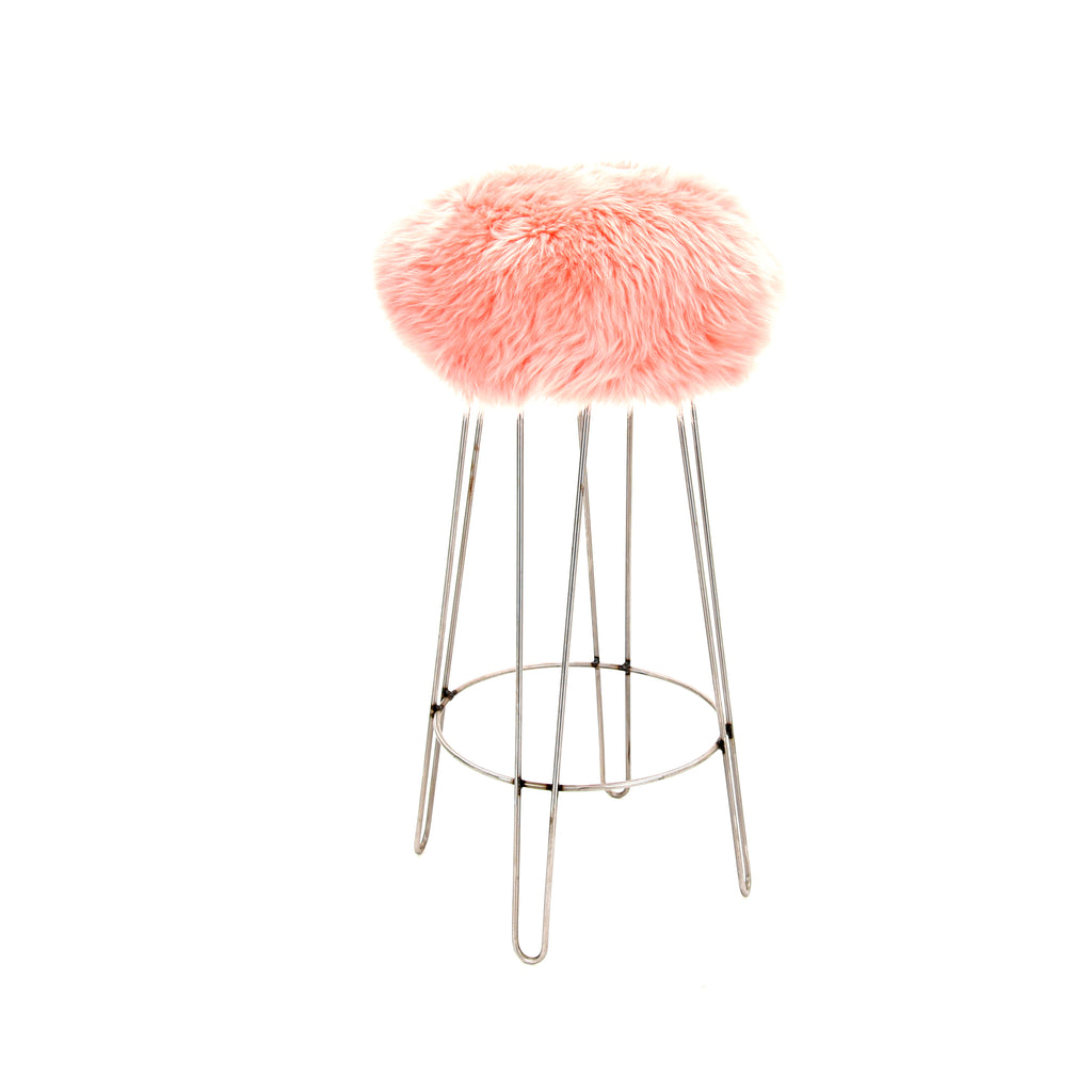 Baa Stool 'Griff' Bar Stool in Baby Pink