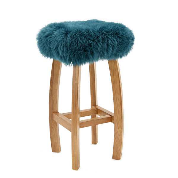 Gwyn Baa Stool Bar Stool In Solid Oak at Wysteria Lane