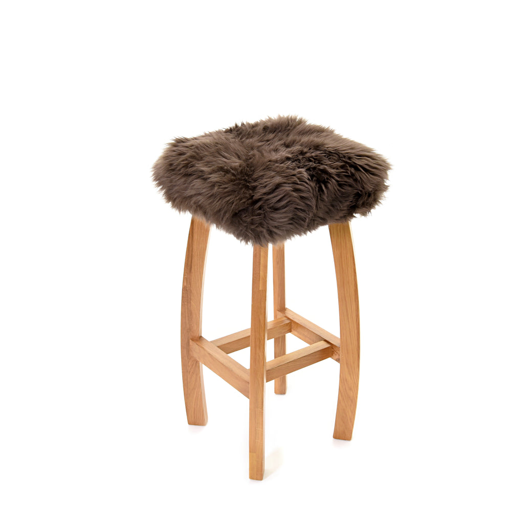 Baa Stool 'Gwyn' Real Sheepskin Stool - Mink