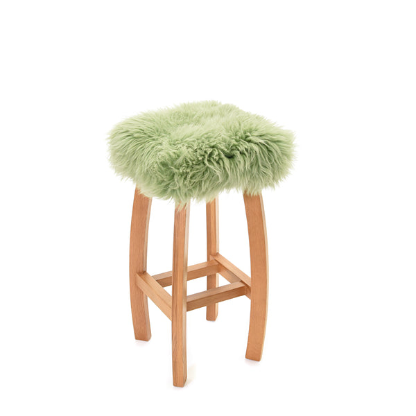 Baa Stool 'Gwyn' Real Sheepskin Stool - Sage