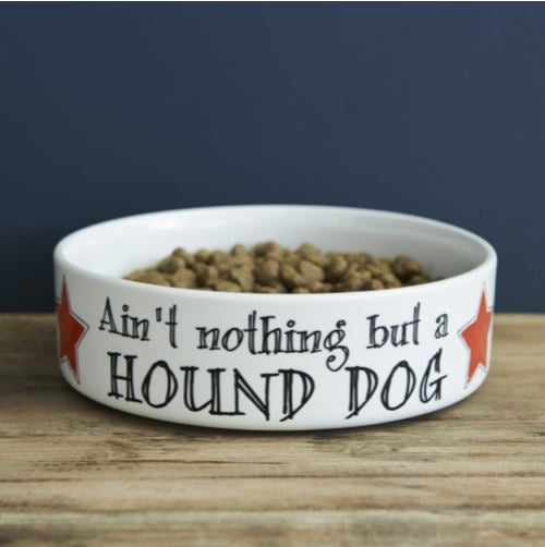 Hound Dog Large Dog Bowl by Sweet William