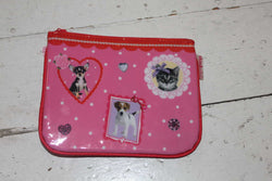 Pink Cats and Dogs PVC Girls Makeup Bag - NOW 50% OFF