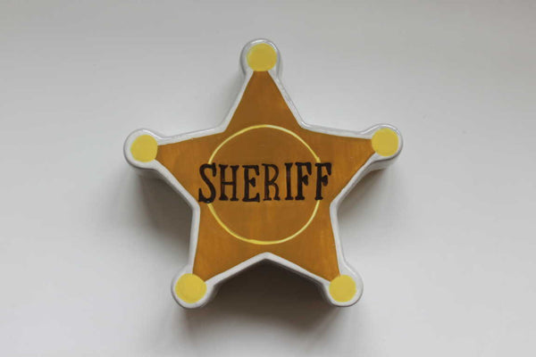 Ceramic 'Sheriff Badge' Money Box - NOW 50% OFF