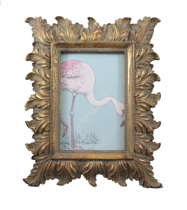 Gold Leaf Design Ornate Resin Picture Frame